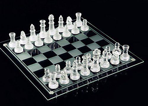 Fine Glass Chess Game Set, Solid Glass Chess Pieces