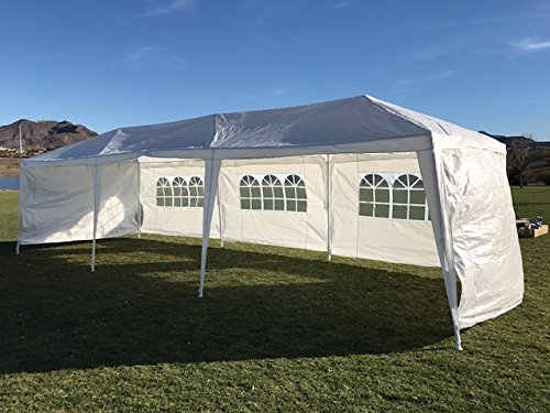 Palm Springs Outdoor 10 x 30 Wedding Party Tent Canopy with 5 Sidewalls