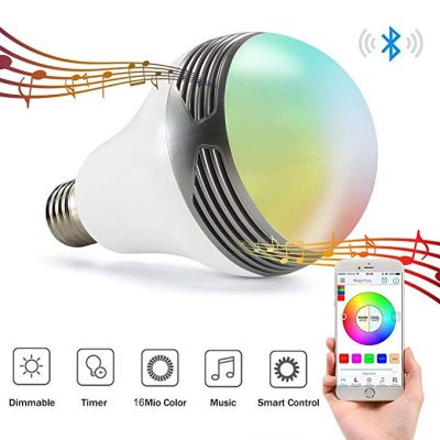 7. Magic Hue Bluetooth Speaker Bulb with Speaker: