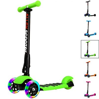 8. Allek Kick Scooter -3 Wheel Adjustable Height Scooter: