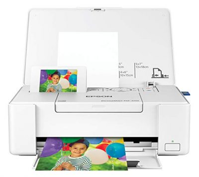 1. Epson PictureMate PM-400 Wireless Color Photo Printer: