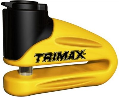 4. Trimax T665LY Hardened Metal Disc Lock (Yellow):