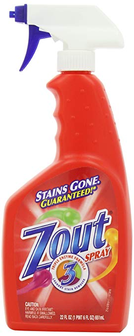 9. Triple Enzyme Formula Laundry Stain Remover Spray from Zout: