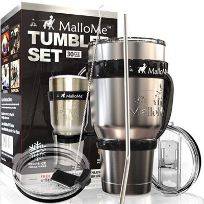 3. MalloMe Stainless Steel Vacuum Insulated Tumbler: