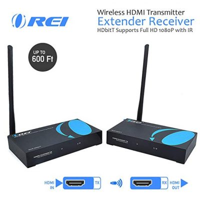 7. Wireless HDMI Transmitter Extender Receiver from OREI: