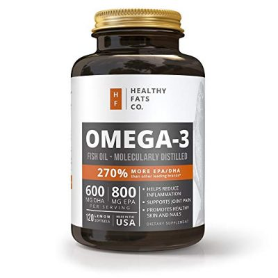 1. Fish Oil Omega 3 Capsules: Best Triple Strength Supplements by Healthy Fats Co.: