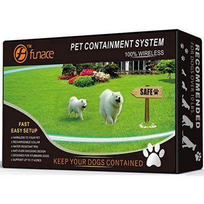 5. 1 Dog Wireless Pet Containment System - Rechargeable and Waterproof Collar: