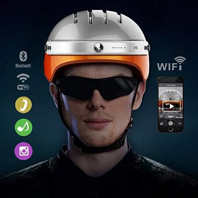 7. Airwheel C5 Intelligent Helmet with Front Camera and Bluetooth Speaker: