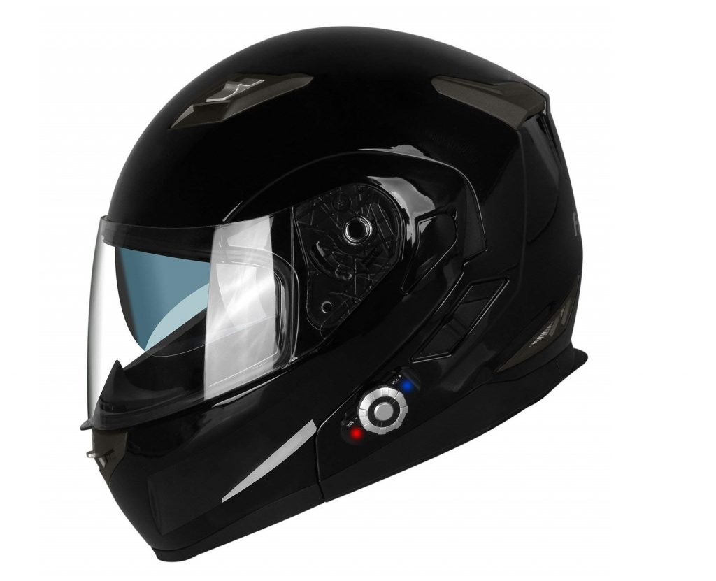7. FreedConn Bluetooth Motorcycle Helmets Speakers Integrated Modular Flip up Dual Visors Full Face Built