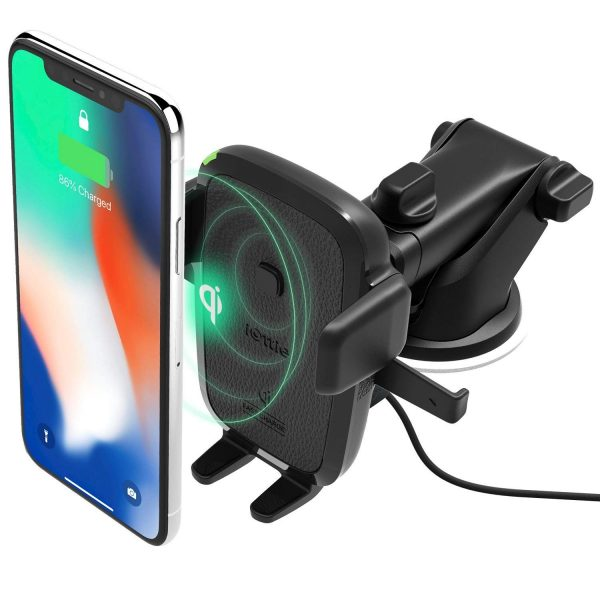 9. iOttie Easy One Touch Qi Wireless Fast Charge Car Mount for Samsung Galaxy S9 Plus S8 Edge Note 9 & Standard Charge for iPhone X 8 Plus & Qi Device Includes Dual Charger
