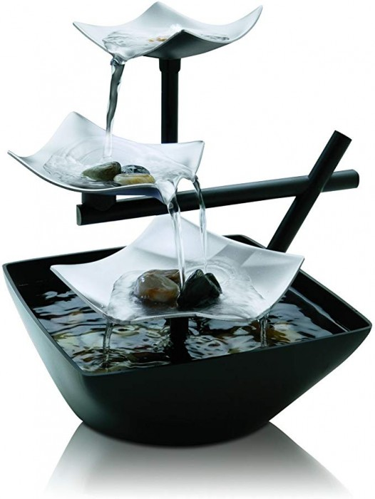 #1 HoMedics Silver Springs Indoor Relaxation Fountain