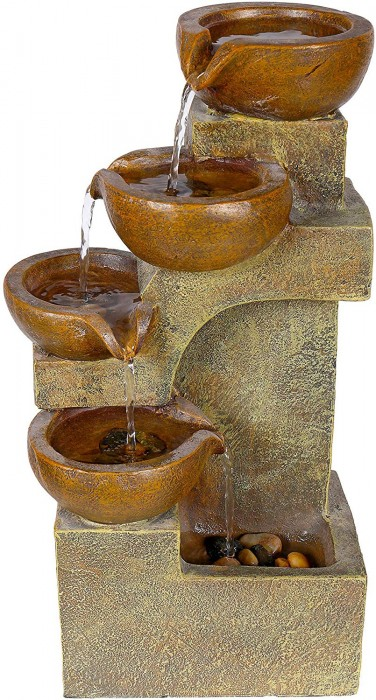 #6 Alpine Corporation 4 Tier Pouring Pots Fountain