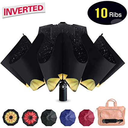 Refrze Waterproof, Inverted, Reversed, Compact and Folding Umbrella