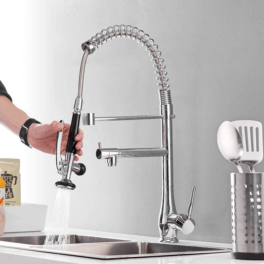 GIMILI Pull Down Kitchen Faucet