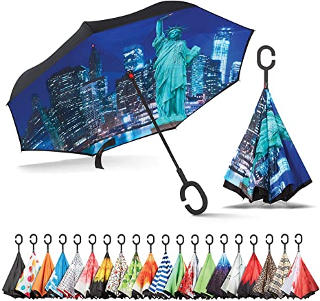 Sharpty Inverted, Waterproof, Reverse and UV Protection for Women Umbrella